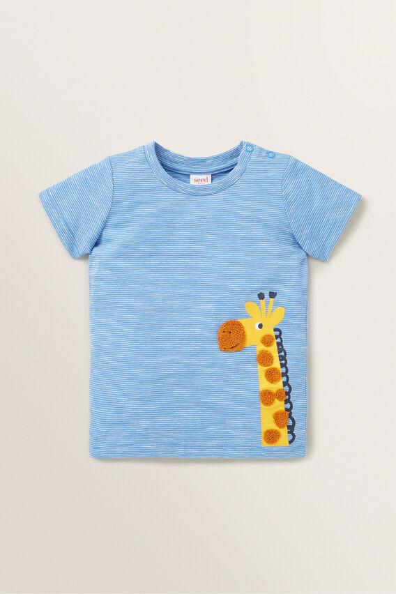 Giraffe Tee  CORNFLOWER BLUE  hi-res