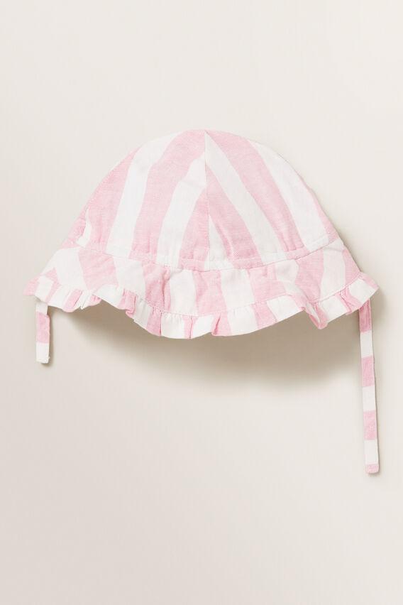 Candy Stripe Sun Hat  PINK BLUSH  hi-res