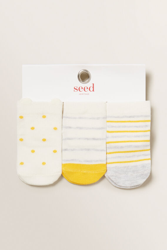 Patterned Socks  SUMMER MUSTARD  hi-res