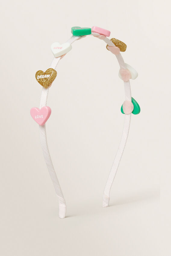 Candy Heart Headband  MULTI  hi-res