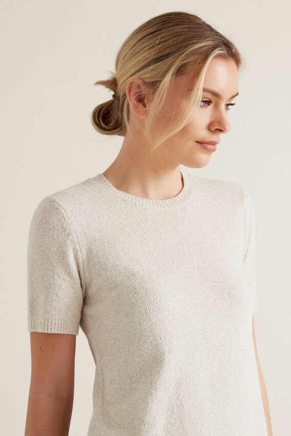 Textured Knit Shell Top  ARCTIC MARLE  hi-res