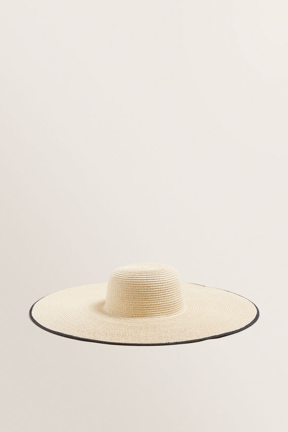 Contrast Edge Sun Hat  NATURAL/BLACK  hi-res