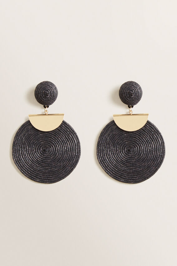 Statement Cord Earring  BLACK  hi-res