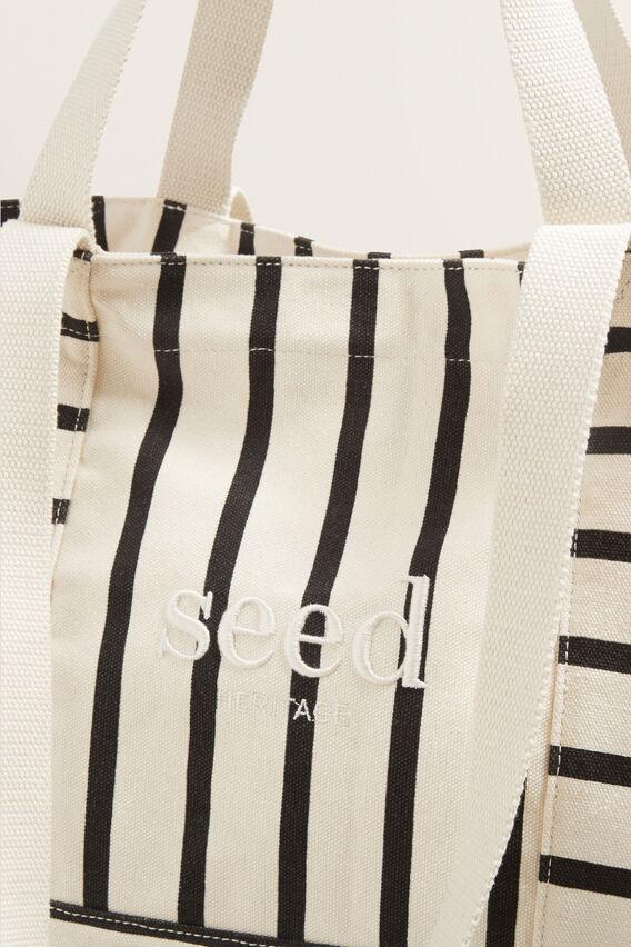 Seed Overnight Bag  BLACK STRIPE  hi-res