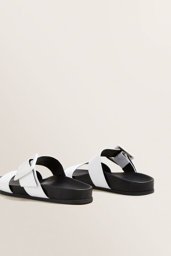 Lilly Footbed Sandal  WHITE  hi-res