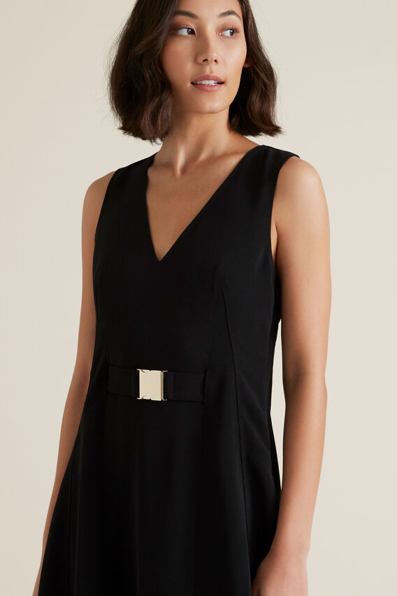 Clasp Belt Dress  BLACK  hi-res