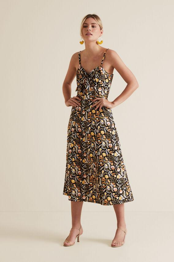 Tie Front Dress  VINTAGE PAISLEY  hi-res