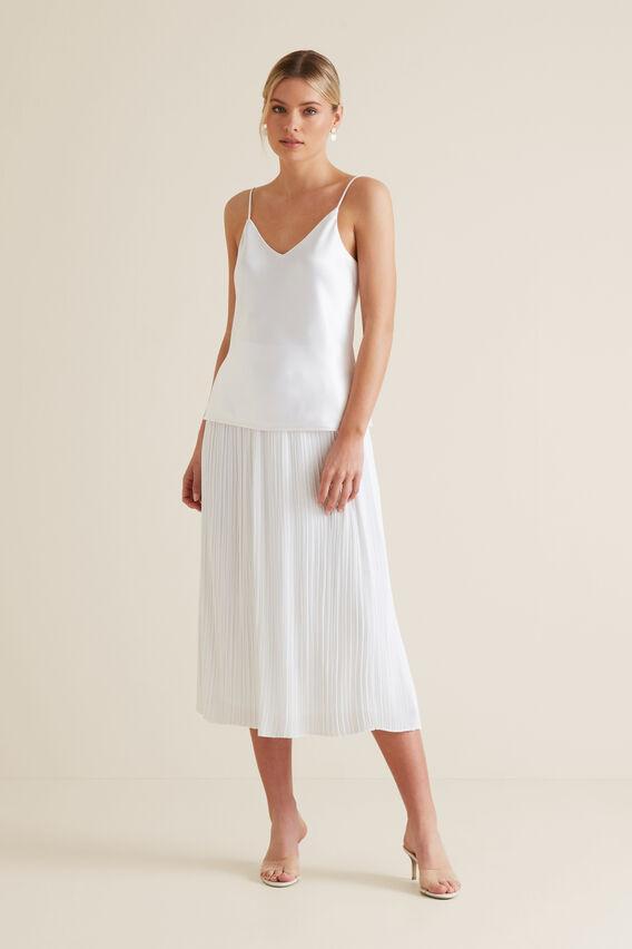 Midi Micro Pleat Skirt  WHISPER WHITE  hi-res