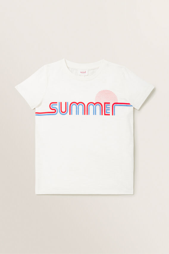 Summer Slogan Tee  VINTAGE WHITE  hi-res