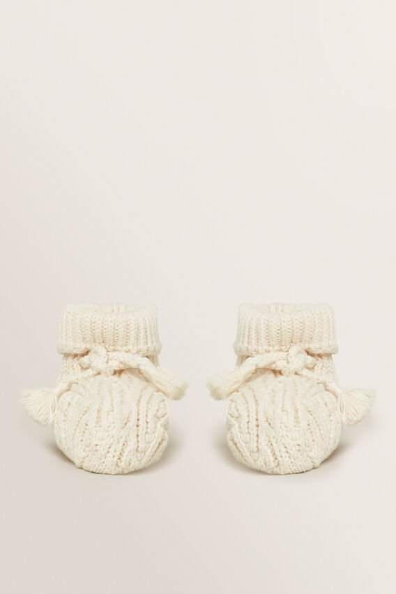 Knitted Bootie  RICH CREAM  hi-res