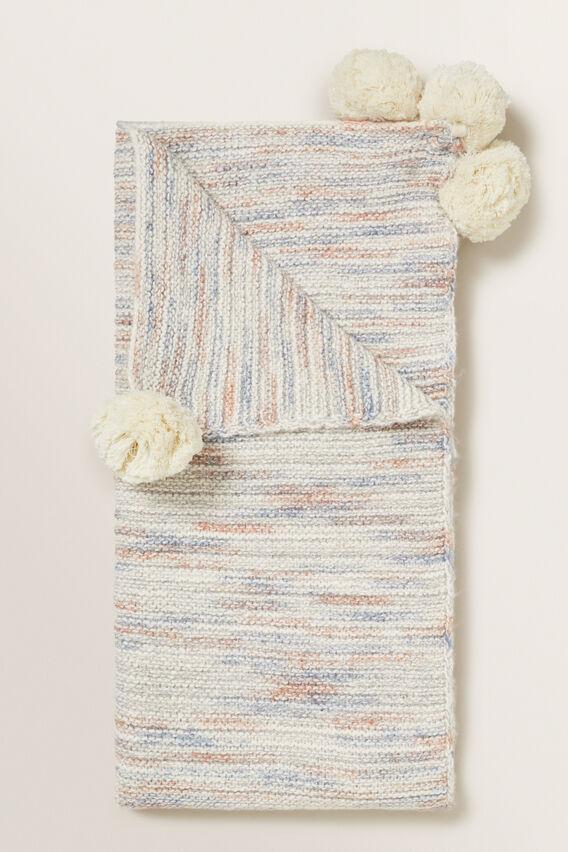 Space Dye Knitted Blanket  MULTI  hi-res