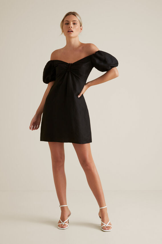 Off Shoulder Mini Dress  BLACK  hi-res