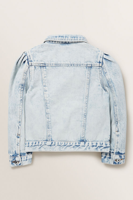 Pleat Denim Jacket  BLUE ACID WASH  hi-res