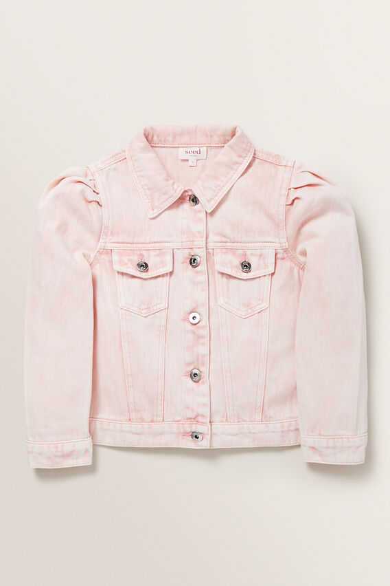 Pleat Denim Jacket  ROSE ACID WASH  hi-res
