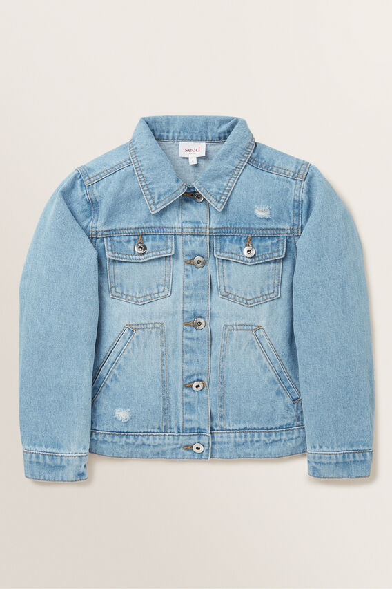 Distressed Denim Jacket  CLASSIC BLUE  hi-res