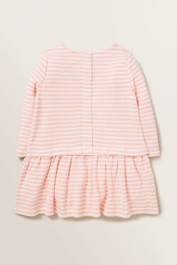 Waffle Stripe Dress  DUSTY ROSE  hi-res