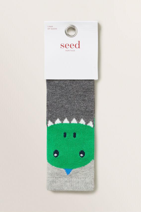Dino Socks  GREEN  hi-res