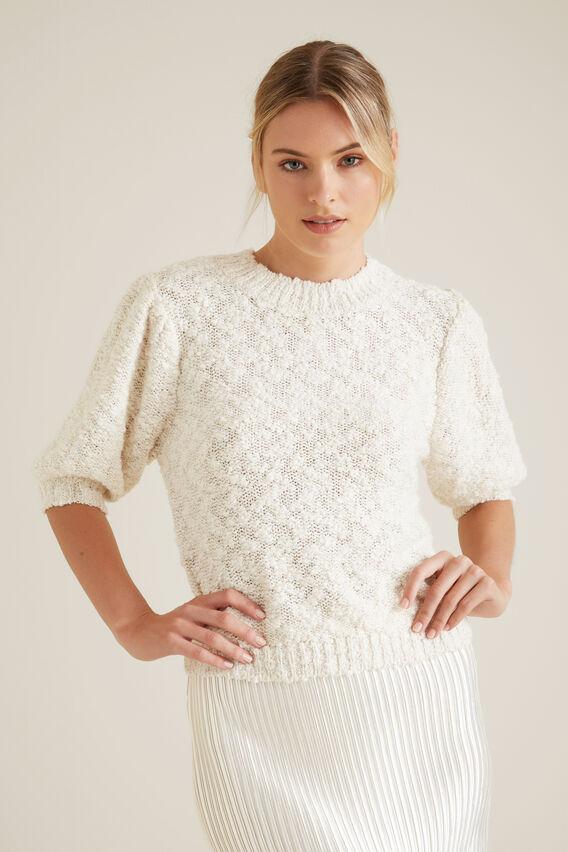 Metallic Blend Knit  CLOUD CREAM  hi-res