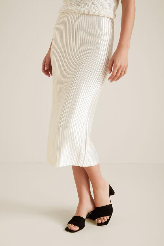 Pleated Column Skirt  CLOUD CREAM  hi-res