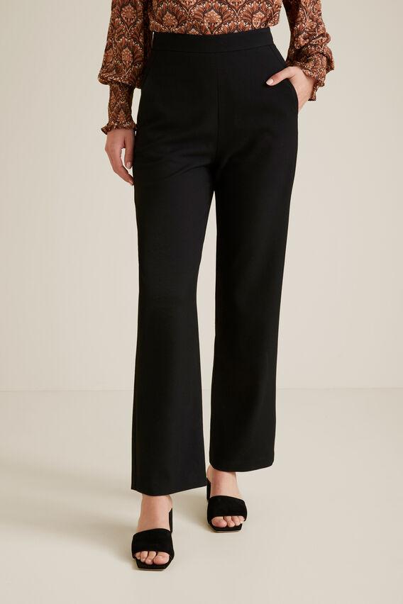 Flat Front Trouser  BLACK  hi-res