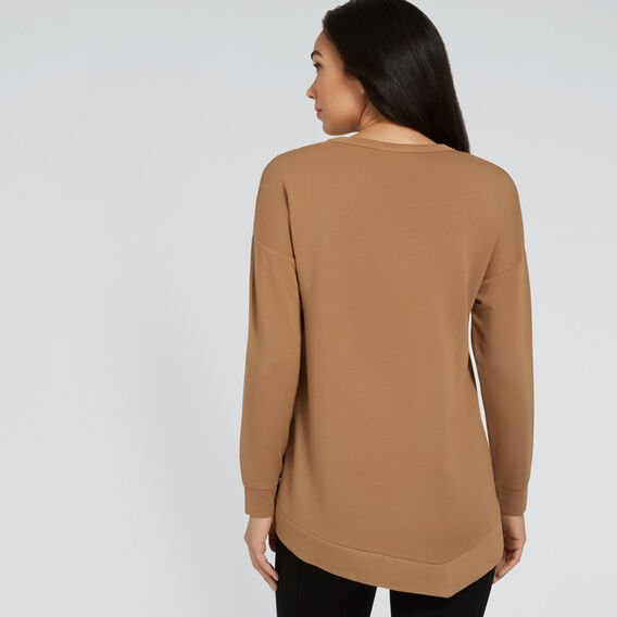 Asymmetric Hem Top  GINGERBREAD  hi-res