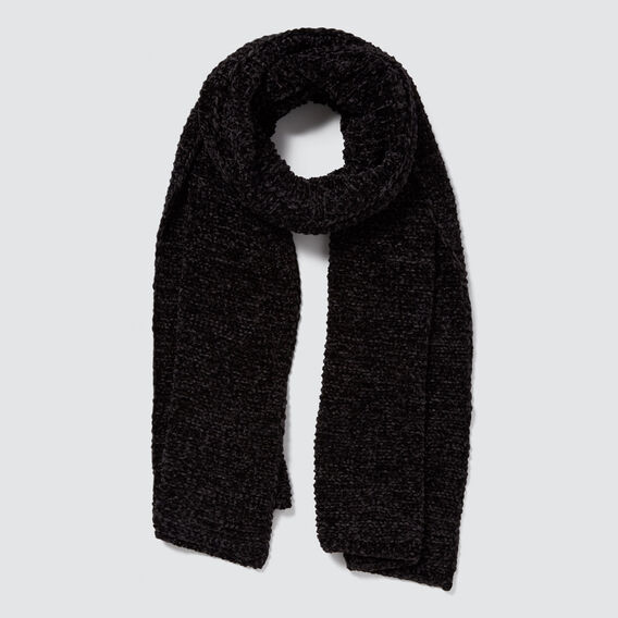 Wrap Knit Scarf  BLACK  hi-res