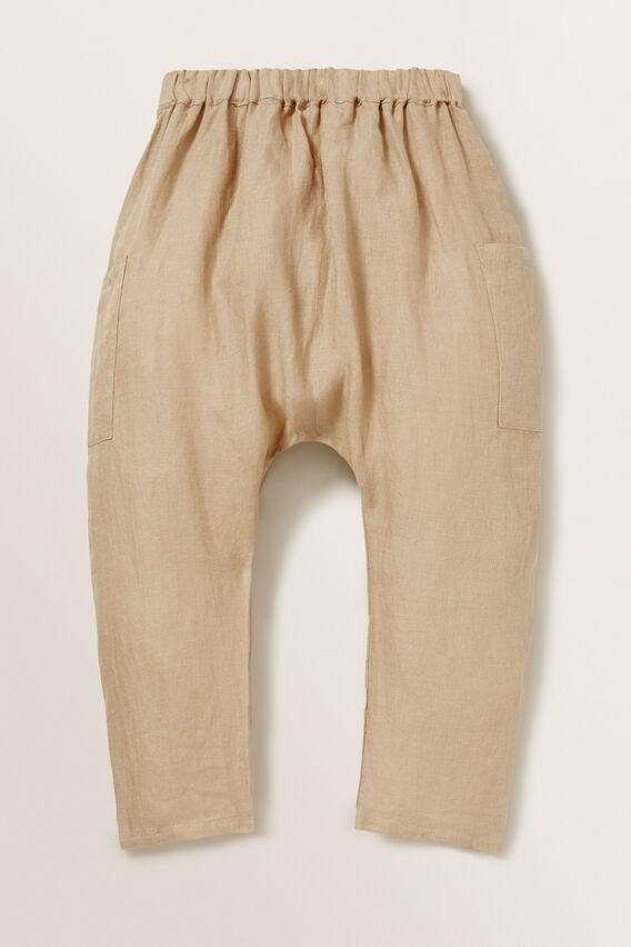 Linen Harem Pants  WARM TAN  hi-res