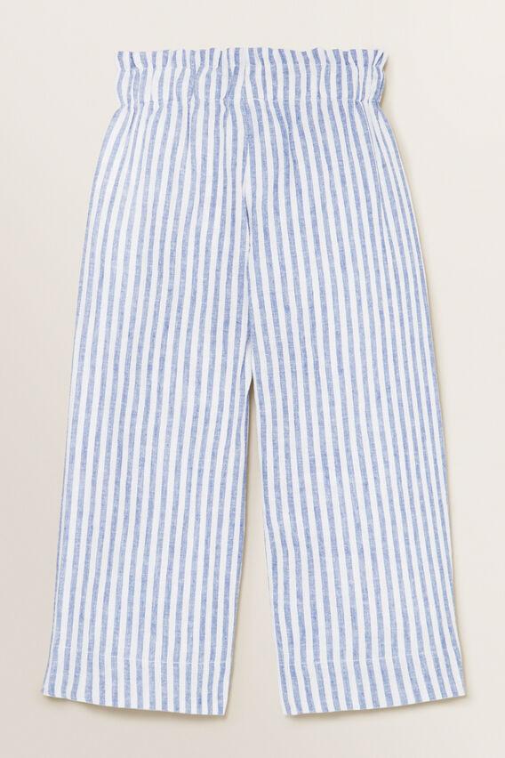 Stripe Culottes  WHITE/OCEAN BLUE  hi-res