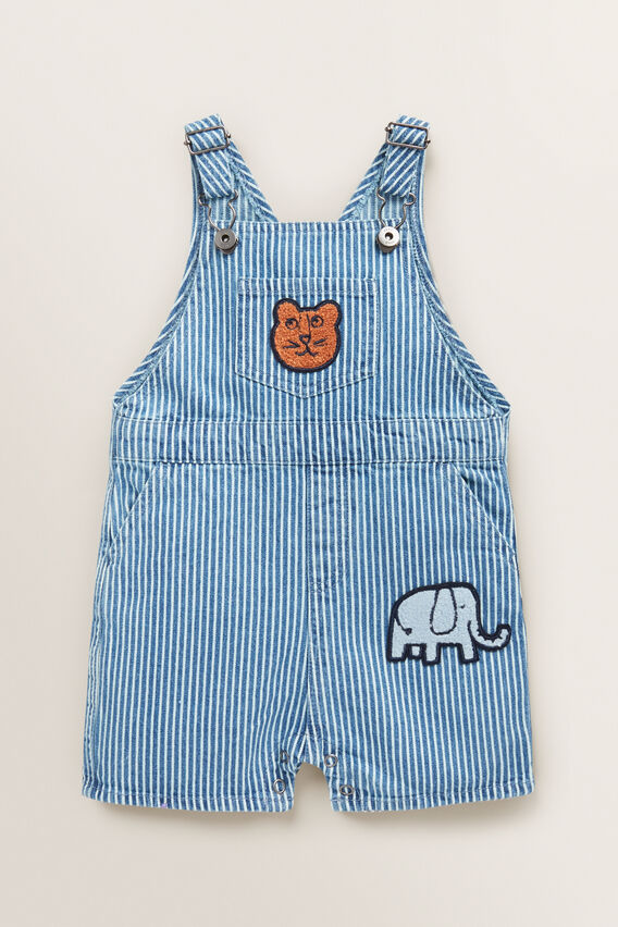 Stripe Denim Dungaree  VINTAGE WASH  hi-res