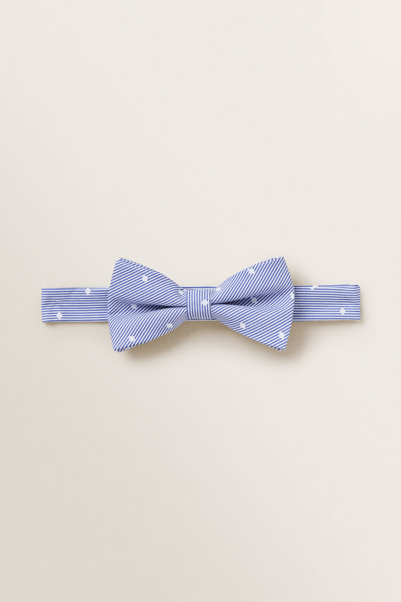 Stripe Bow Tie  BLUE  hi-res