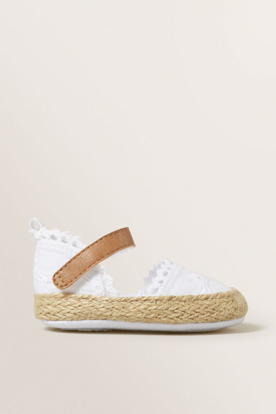Broderie Espadrille  WHITE  hi-res