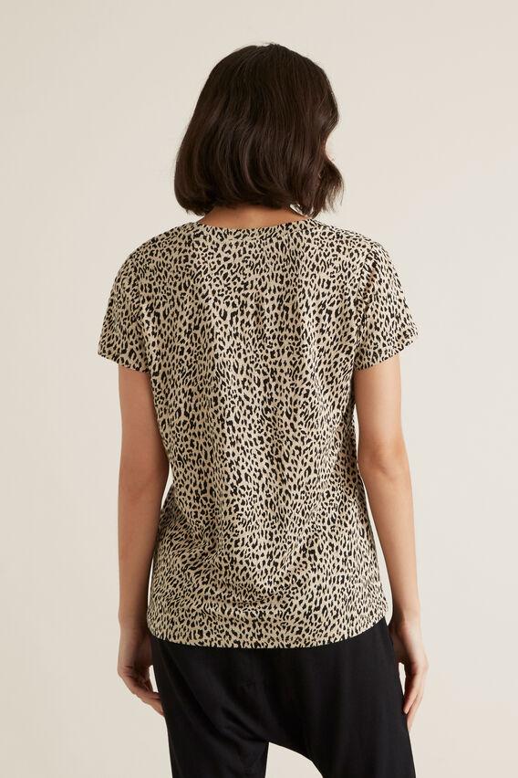 Linen Scoop Print Tee  ANIMAL  hi-res