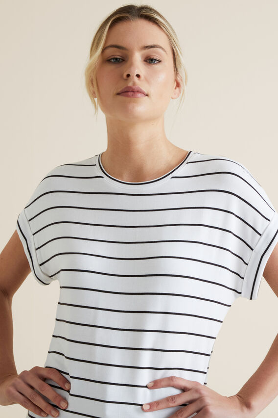 Striped Tee  BLACK STRIPE  hi-res