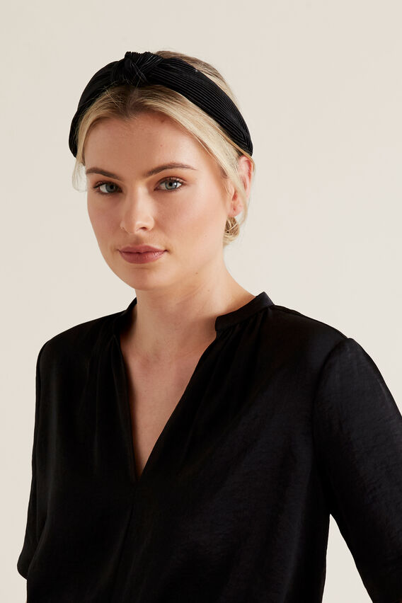 Pleated Headband  BLACK  hi-res