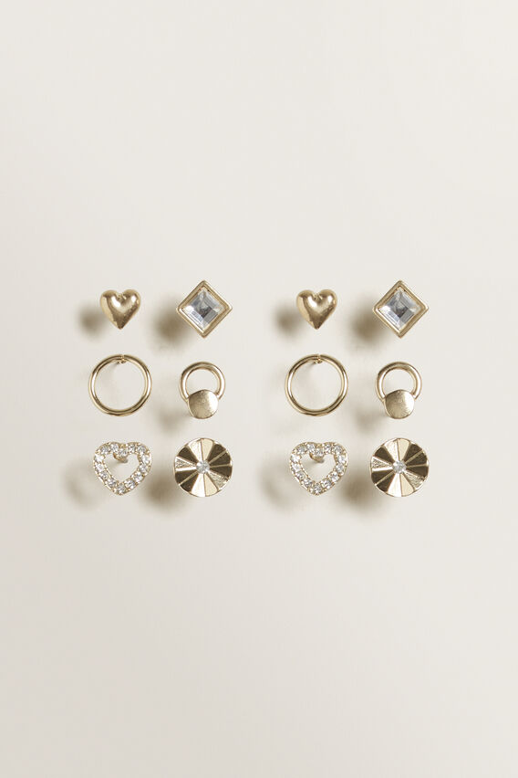 Heart Stud Pack  GOLD  hi-res