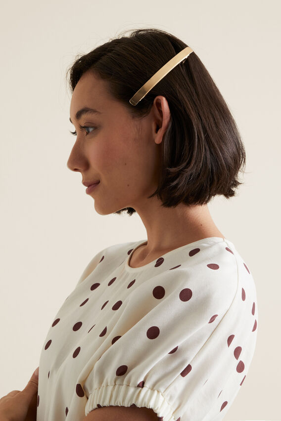 Long Metal Barrette  GOLD  hi-res