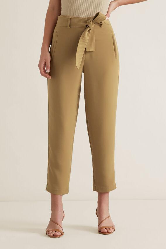 Tie Front Pant  HONEY BROWN  hi-res