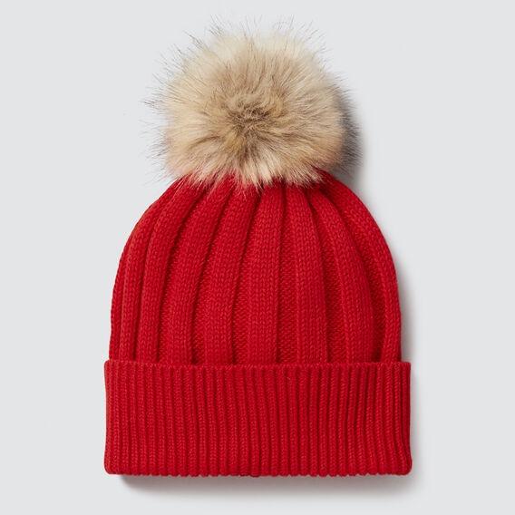 Simple Rib Beanie  RED  hi-res