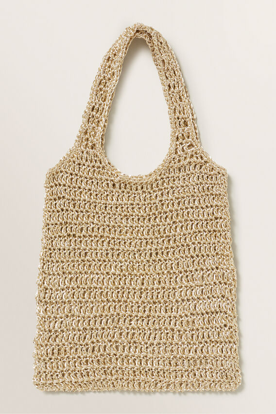 Lurex Market Bag  GOLD  hi-res