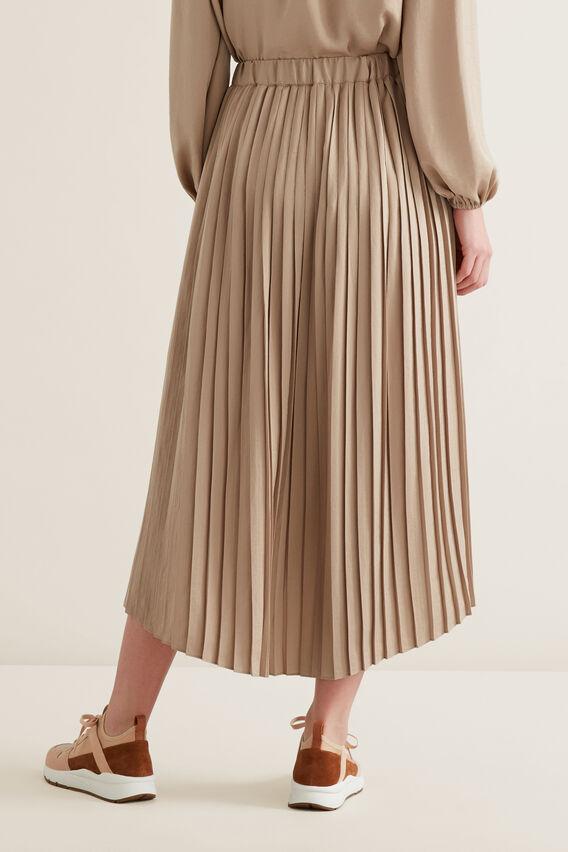 Hi-Lo Pleated Skirt  NEUTRAL BEIGE  hi-res