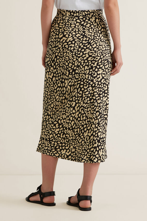Animal Print Skirt  OCELOT  hi-res