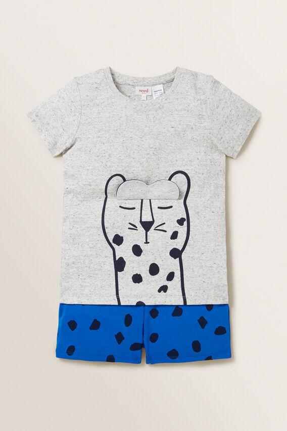 Novelty Leopard Pyjama  BRIGHT COBALT  hi-res