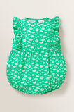 Frill Ditsy Romper  APPLE GREEN  hi-res