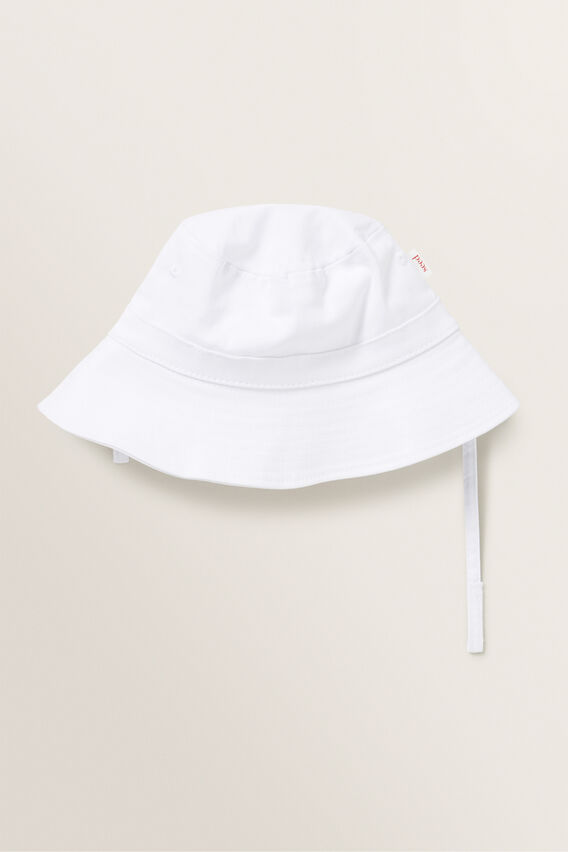 Neutral Bucket Hat  WHITE  hi-res
