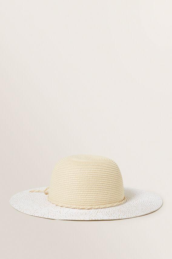 Bow Trim Floppy Hat  NATURAL  hi-res