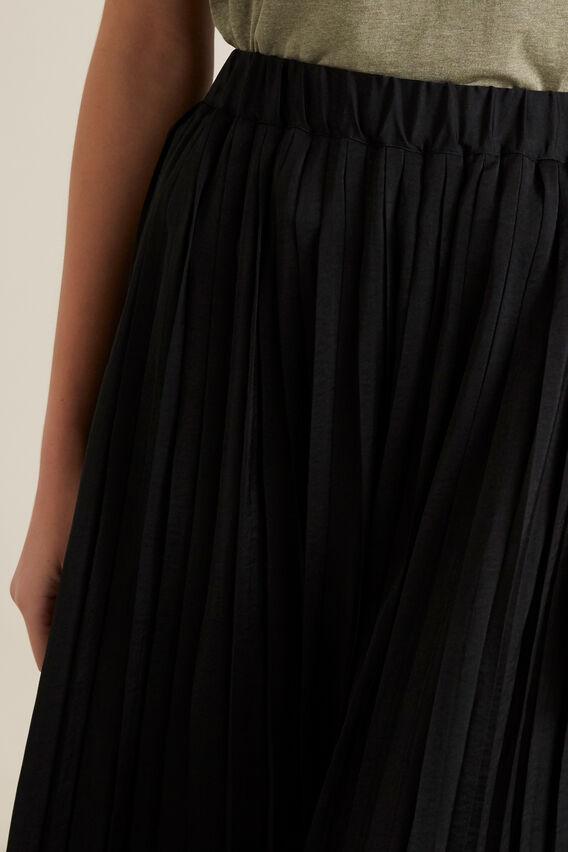 Hi-Lo Pleated Skirt  BLACK  hi-res