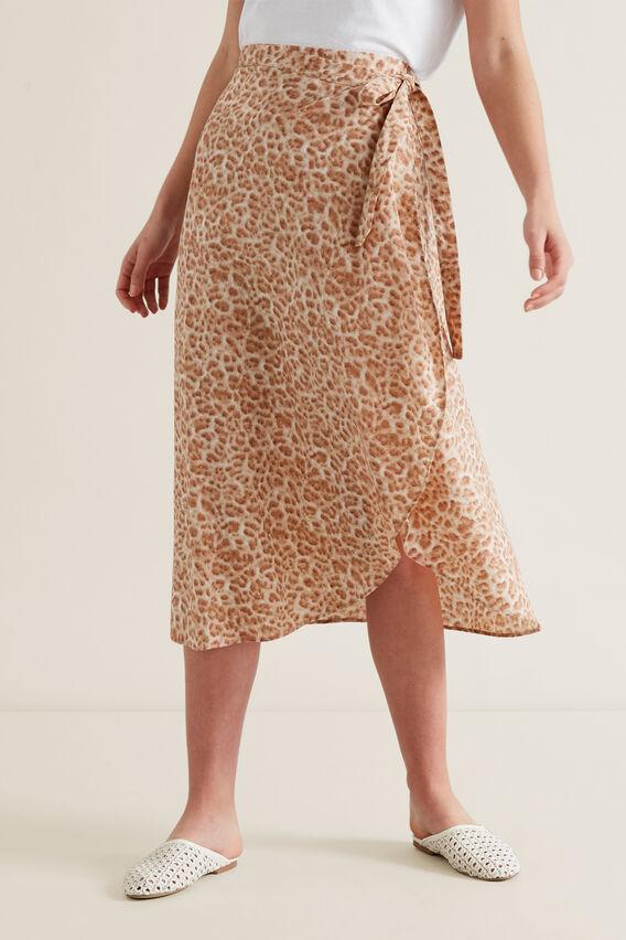 Wrap Animal Print Skirt  ANIMAL PRINT  hi-res