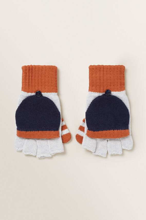 Colour Block Mittens  MULTI  hi-res
