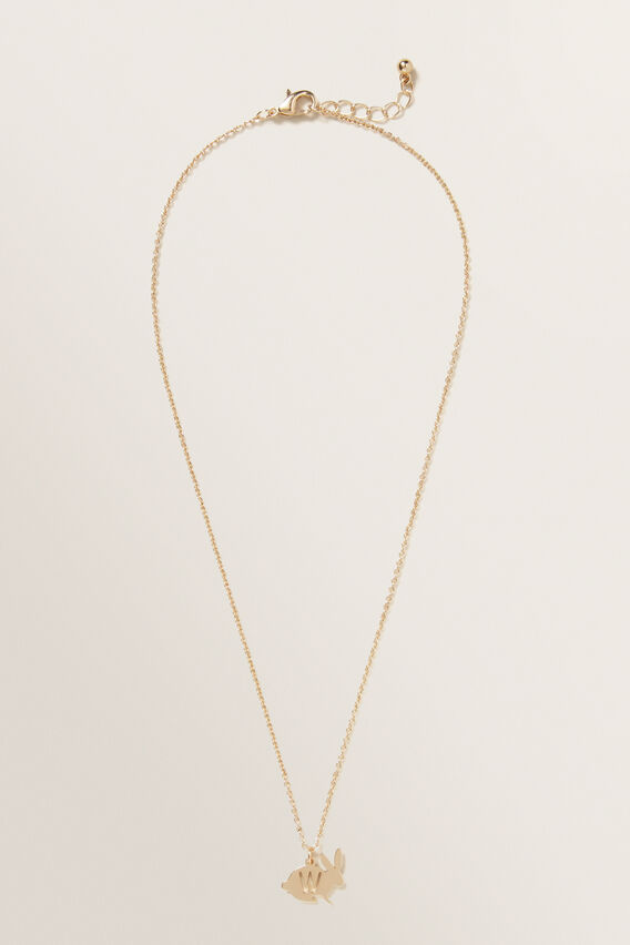 Bunny Initial Necklace  W  hi-res