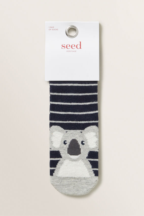 Koala Socks  NAVY  hi-res